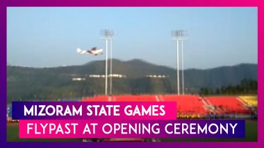 Mizoram State Games: Flypast At Opening Ceremony At Rajiv Gandhi Stadium In Aizawl