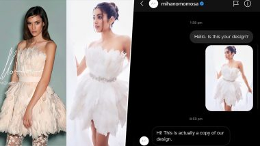 Diet Sabya Proves Janhvi Kapoor's White Feather Dress is a Copy and How! (See Pic)