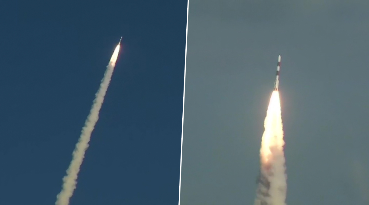 ISRO Successfully Launches India's Spy Satellite RISAT-2BR1, 9 Foreign Satellites by PSLV-C48; Watch Video