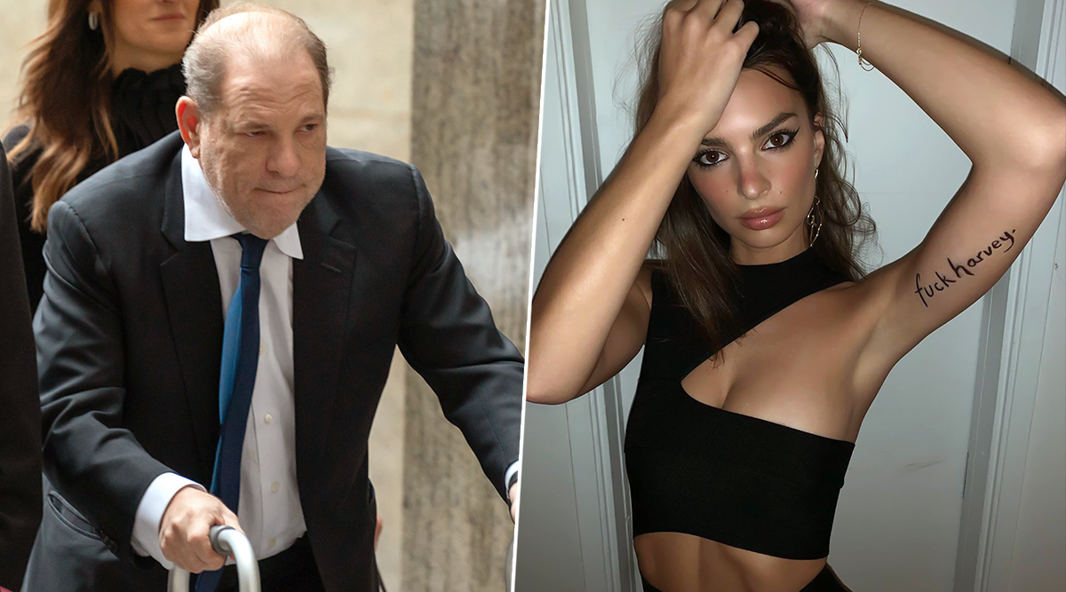 Emily Ratajkowski Strongly Replies to Harvey Weinstein's $25M Civil Settlement by Arriving with 'F**k Harvey' Written on Her Arm to Uncut Gems Premiere