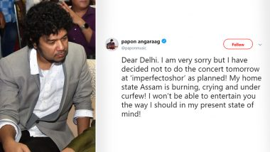 Papon Cancels Delhi Show Amid CAB Protests in Singer's Home-Town Assam (Read Tweets)