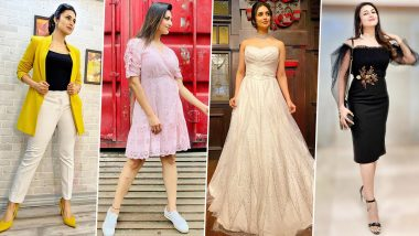 Divyanka Tripathi Dahiya Birthday Special: TV's Favourite 'Bahu' Has a Very Strong Fashion Game and We are all Hearts for it (View Pics)