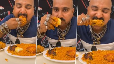 Viral on TikTok: Desi Mukbang Video of Ulhas Kamathe Eating 'Chicken Leg Piece' and 'Chicken Kabsa Rice' Is Making Netizens Go ROFL