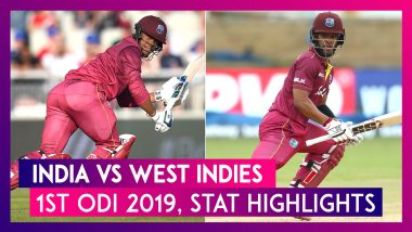 IND vs WI Stat Highlights, 1st ODI 2019: Shimron Hetmyer, Shai Hope Help Windies Take 1-0 Lead