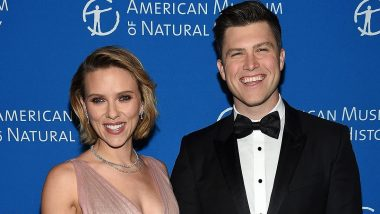 Black Widow Star Scarlett Johansson Jokes about Engagement to Colin Jost in Marvel-Themed SNL Monologue