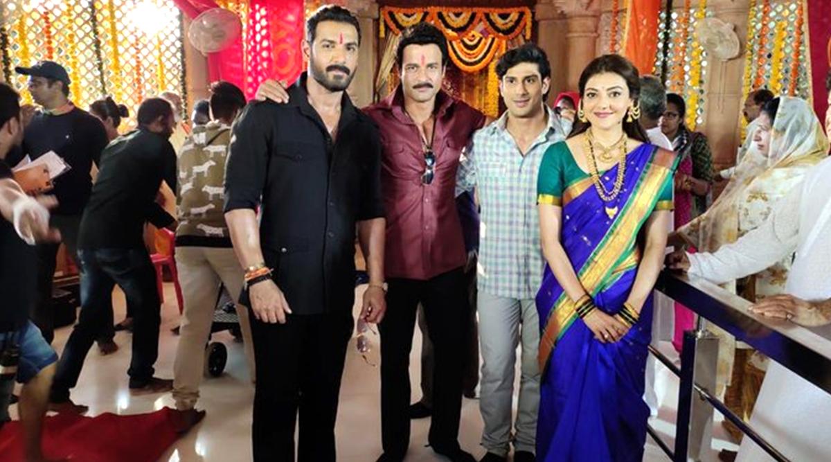 Kajal Aggarwal Wishes John Abraham on His Birthday, Actress Shares a Pic from the Sets of Mumbai Saga