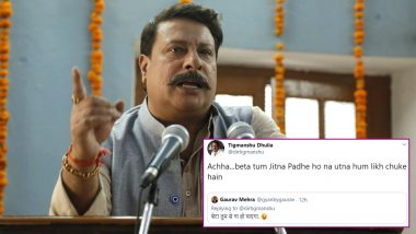 CAA Protests: Tigmanshu Dhulia's Verbal Spat with a Twitter User Has a Gangs of Wasseypur Connection (Read Tweet)