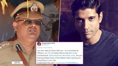 CAA Protests: After Farhan Akhtar Invites People for a Rally, IPS Officer Sandeep Mittal Hits Out at Him for Breaking the Law (Read Tweets)