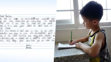7 Year-Old-Boy's Heartbreaking Letter to Santa From Domestic Violence Shelter Goes Viral And His Wish Will Make You Cry Ugly