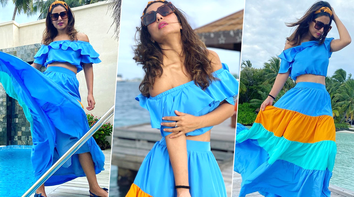 Hina Khan's Colourful Seperates from her Maldives Holiday Album Should Help You Ditch all your Mid-Week 'Blues' (View Pics)