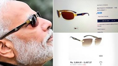 Maybach or Retro Buffalo Horn Glasses? Twitterati Divided on Which Brand of Sunglasses PM Narendra Modi Wore Watching Solar Eclipse