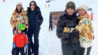 Kareena Kapoor Khan, Saif Ali Khan, Karisma Kapoor and Taimur Ali Khan Take a Vacation Ahead of New Year's Eve, Check Out Their Freezing Fun in Switzerland (View Pics)