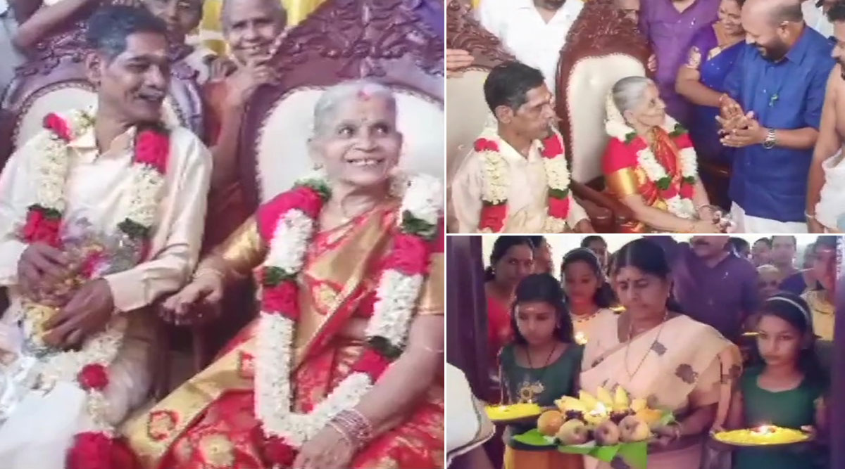Kerala Couple Kochaniyan Menon  and  Lakshmi Ammal in Their 60s Fell in Love and Got Married at an Old Age Home; Heart-Melting Pictures Take over Twitter