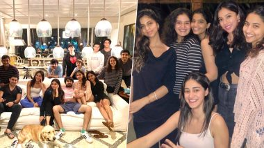 Suhana Khan Parties With BFF Ananya Panday and Brothers Aryan and AbRam Khan in Alibaug (View Pics)