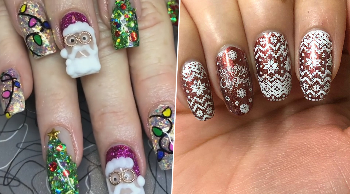 Christmas 2019 Nail Art: From Santa Claus to Snowflakes, Cute Festive Manicure Ideas to Wish Merry Christmas in the Most Creative Way