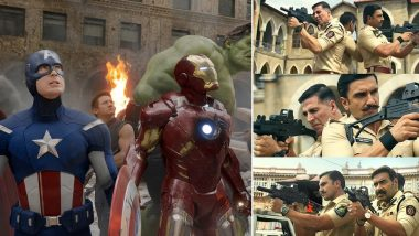 Sooryavanshi: Akshay Kumar, Ranveer Singh and Ajay Devgn's New Glimpse of the Cop Universe Is Similar to Avengers Scene