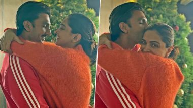 Deepika Padukone and Ranveer Singh's Christmas is All Things Love as They Pose in an Adorable Embrace For the Festive Celebration (View Pics)