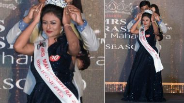 Mrs Sukanya Sengupta Chakravorty from Nashik Wins the Mrs Iconic Eyes Subtitle Crown at Mrs Maharashtra Empess 2019