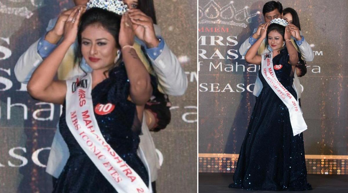 Mrs Sukanya Sengupta Chakravorty from Nashik Wins the Mrs Iconic Eyes Subtitle Crown at Mrs Maharashtra Empess 2019