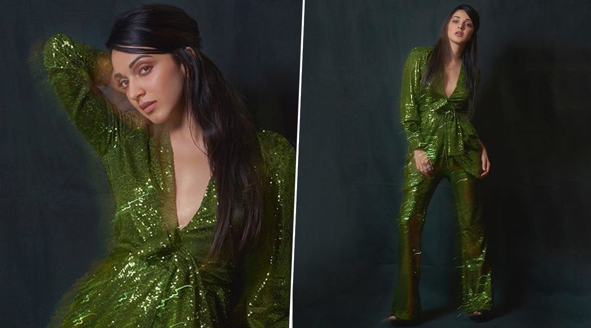 Sexy Kiara Advani in a Shimmery Green Pantsuit Looks like One of Santa Claus' Elves, Giving Us Total Christmas Vibes