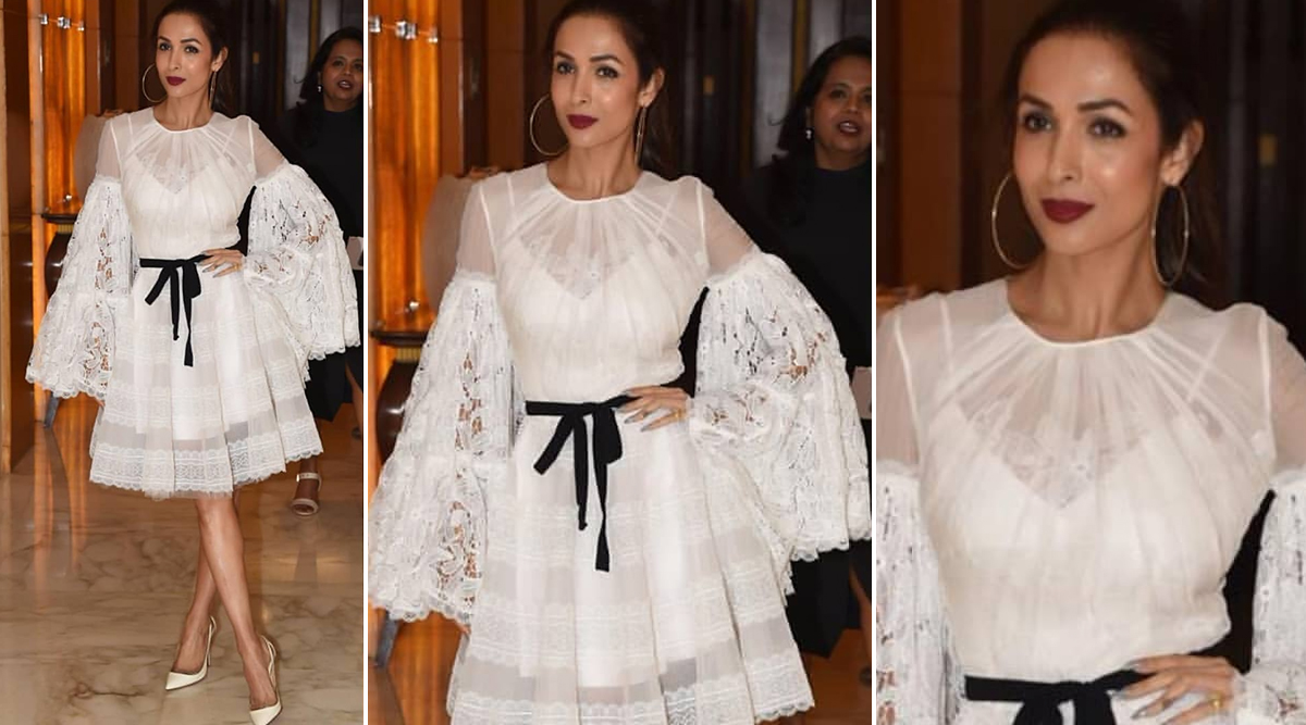 Malaika Arora's White Skater Dress is the Perfect Ensemble for all your Christmas Parties