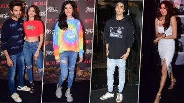 Ghost Stories Screening: Kartik Aaryan, Ananya Panday, Aryan Khan Cheer for Janhvi Kapoor and Others (View Pics)