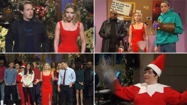 Scarlett Johansson Parodies Avengers: Infinity War Ending in Her Monologue for Saturday Night Live, Kisses Fiance on Stage (Watch Video)