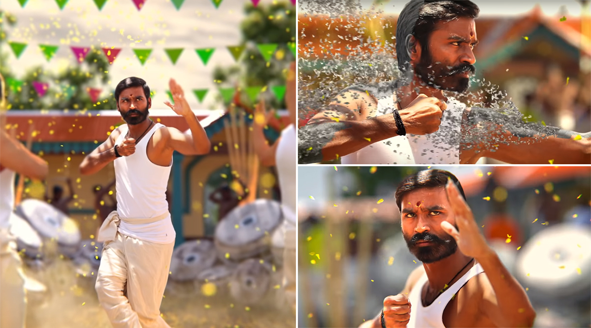 Pattas Motion Poster: Dhanush Returns with a Mass Entertainer and it Can't Get Better than This (Watch Video)