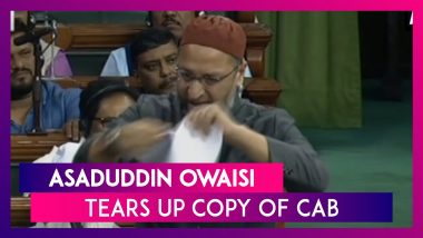 AIMIM Chief Asaduddin Owaisi Tears Up Copy Of Citizenship (Amendment) Bill In Lok Sabha