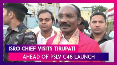 ISRO Chief K Sivan Offers Prayers At Tirupati Balaji Ahead Of PSLV C48 Mission Launch