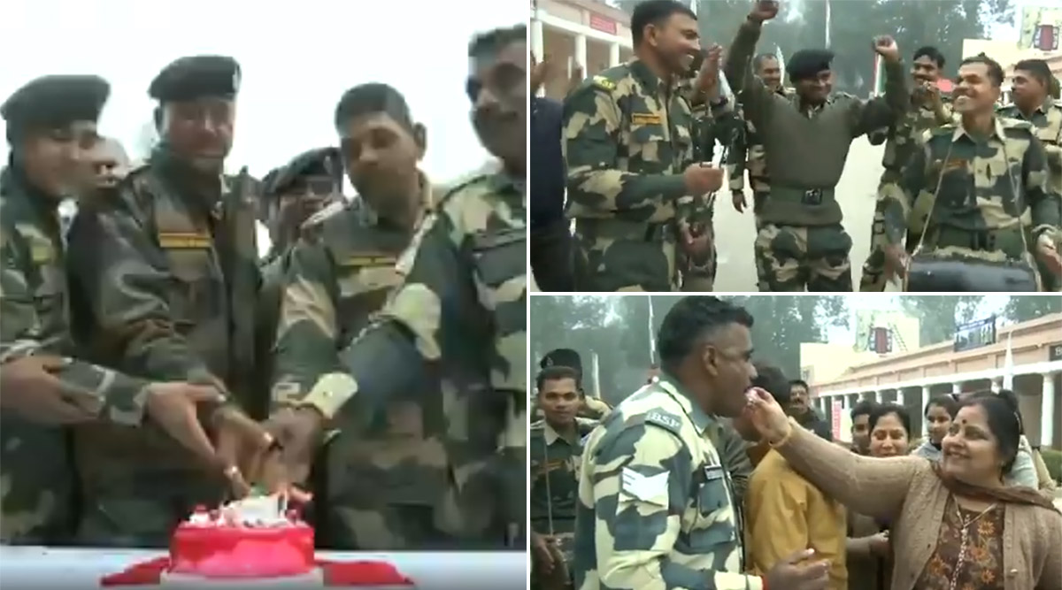 New Year 2020: BSF Jawans Celebrate by Dancing in Jammu & Kashmir's RS Pura Sector (Watch Video)