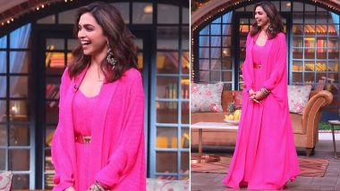 Gulabooo... Zara Itr Gira Do! Deepika Padukone Looks Pretty in Pink for Chhapaak Promotions on The Kapil Sharma Show