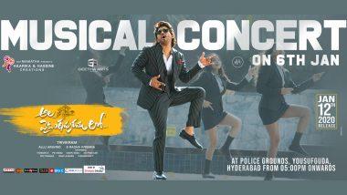 Ala Vaikunthapurramuloo: Musical Concert of Allu Arjun Starrer to Be Held On January 6, 2020 in Hyderabad