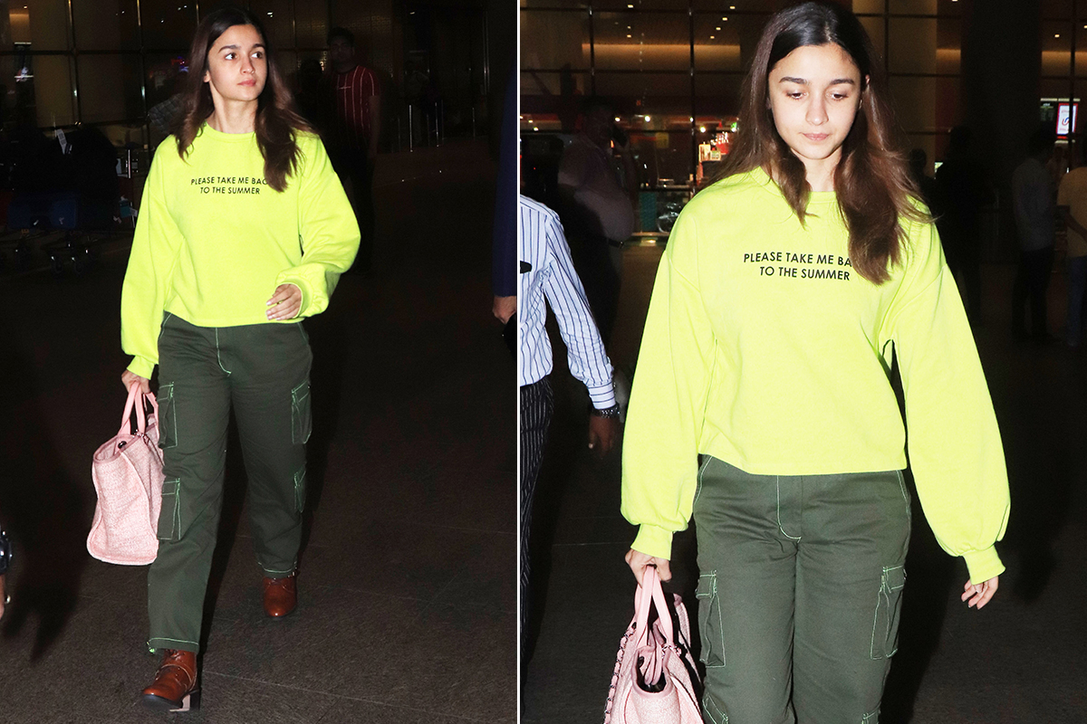 Airport Style - Alia Bhatt