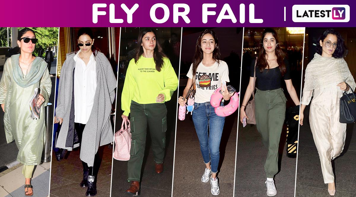 Fly or Fail: Deepika Padukone, Kareena Kapoor Khan, Kangana Ranaut, Alia Bhatt, Janhvi Kapoor, Ananya Panday Will Guide You to Travel Effortlessly Chic!