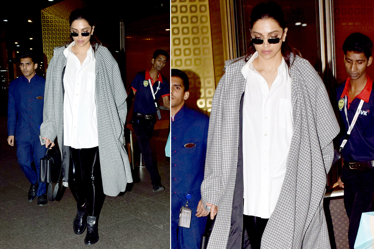 Airport Style - Deepika Padukone