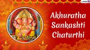 Akhuratha Sankashti Chaturthi 2019 Date and Tithi: Significance of This Auspicious Day Worshiping Lord Ganesha