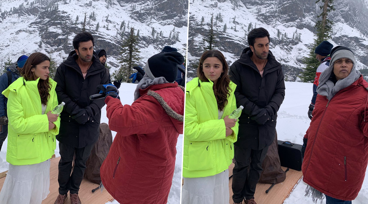 Ranbir Kapoor and Alia Bhatt Look Cute Together as They Shoot on a Freezing Cold Location in Manali (View Pics)