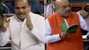 'Citizenship Amendment Bill Not Even .001% Against Minorities': Amit Shah Rebuts Opposition's Anti-Muslim Charge in Lok Sabha