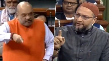 Citizenship Amendment Bill Debate: Asaduddin Owaisi Stokes Row, Says 'Amit Shah's Name Will be Featured With Adolf Hitler, David Ben Gurion If...'