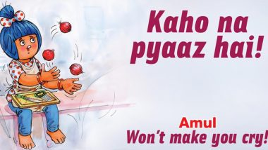 Amul Topical Ad Goes 'Kaho na Pyaaz Hai' on Onion Price Hike (View Pic)