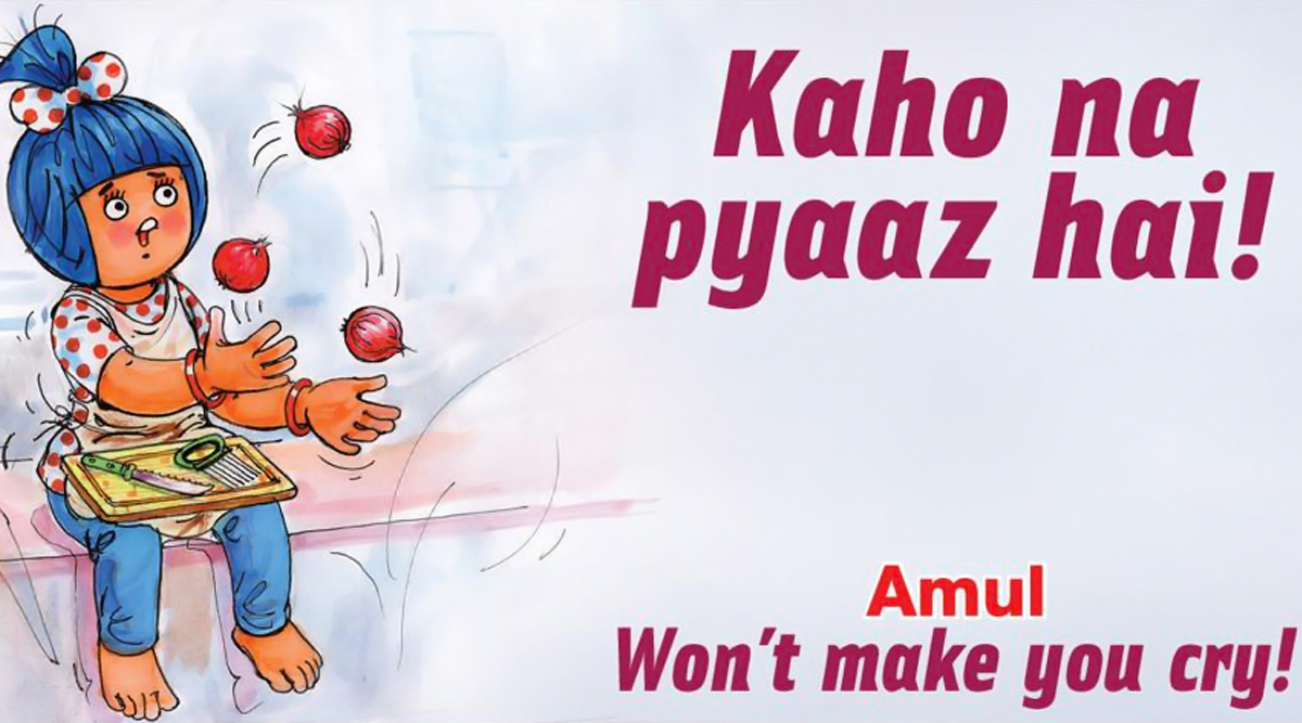 Amul Topical Ad Goes 'Kaho na Pyaaz Hai' on Onion Price Hike (View Pic)