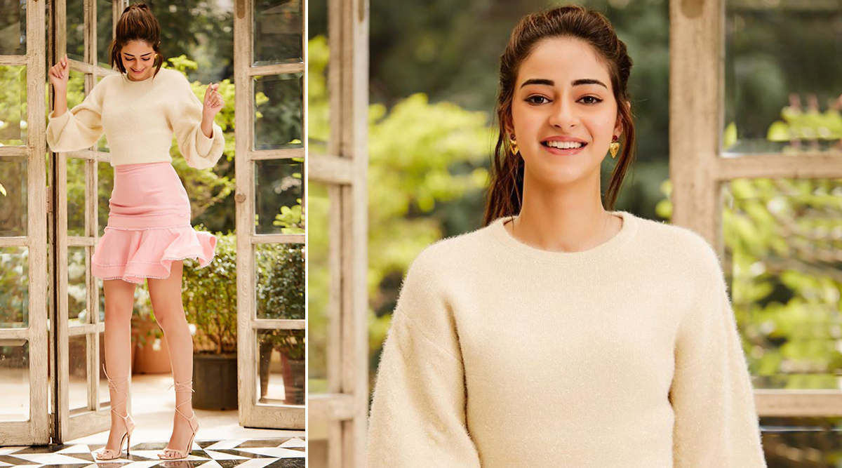 Ananya Panday in Keep Sake for Pati, Patni Aur Woh promotions