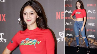 Ananya Panday's Logo Tee at Opening Ceremony of Ghost Stories Is Witty!