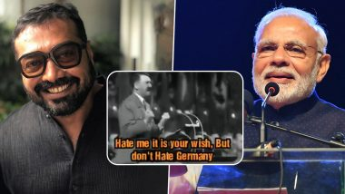 Anurag Kashyap Calls PM Narendra Modi 'Urban Nazi', Cites Adolf Hitler's Speech in Reference (Watch Video)