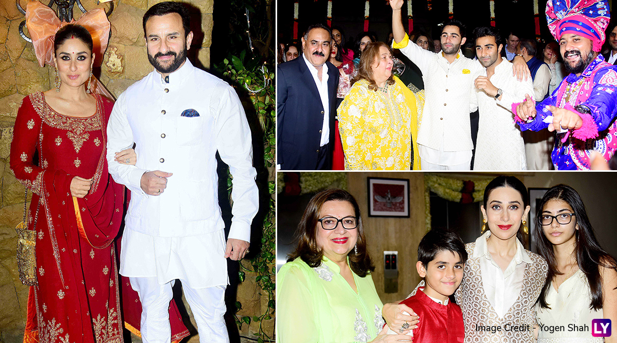 Kareena Kapoor, Saif Ali Khan, Tara Sutaria, Kiara Advani and Others Deck Up For Armaan Jain-Anissa Malhotra's Roka Ceremony (View Pics)