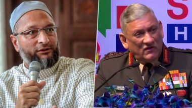 Asaduddin Owaisi's Retort to General Bipin Rawat's Criticism of Students Leading Anti-CAA Stir: 'Leadership is Knowing Limits of One's Office'