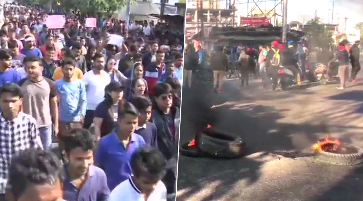 Assam Protests: No Exams, Closed Market, Blocked Roads As Anti-Citizenship Amendment Bill Supporters Carry Out Demonstrations Across State; View Pics and Videos