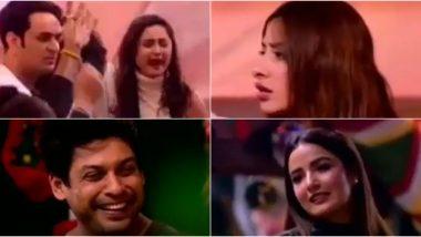 Bigg Boss 13 Day 80 Preview: Rashami Desai Calls Mahira Sharma 'Bewakoof' and Guest Jasmin Bhasin Seems Jealous of Sidharth Shukla and Shehnaaz Gill's Cute Relationship (Watch Video)