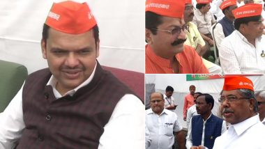 BJP MLAs Arrive Wearing 'I Am Savarkar Too' Caps to Protest Against Rahul Gandhi in Maharashtra Assembly